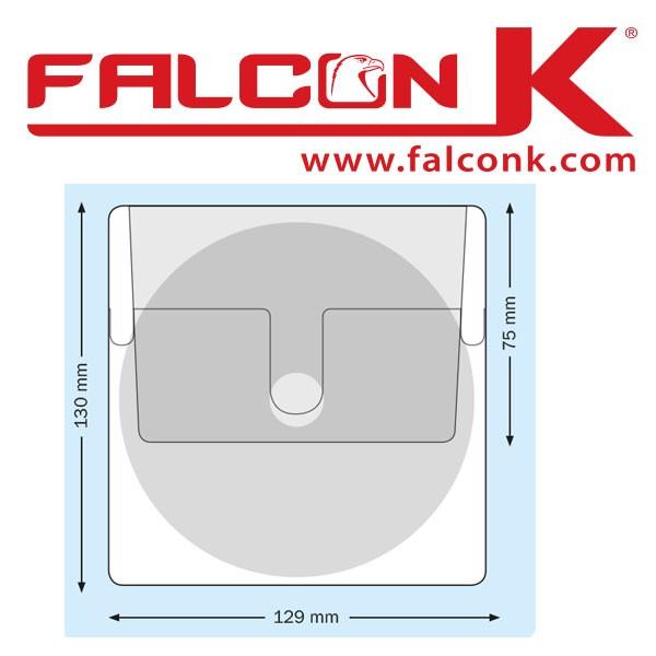 Pochette carré CD + Rabat 129 X 130mm Adhésive#Ref : PPACD Boite de 100 Pochettes