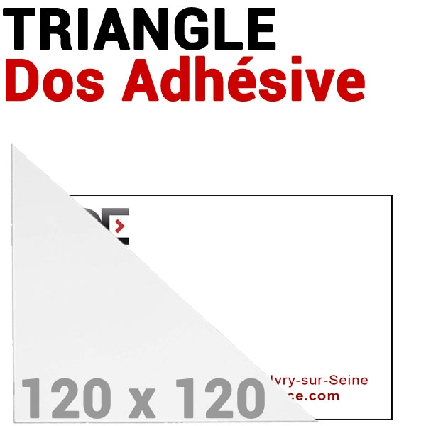 Pochette 120 x 120mm Dos Adhésive coin Triangulaire #  Réf : PPA120 Boite de 100 pochettes
