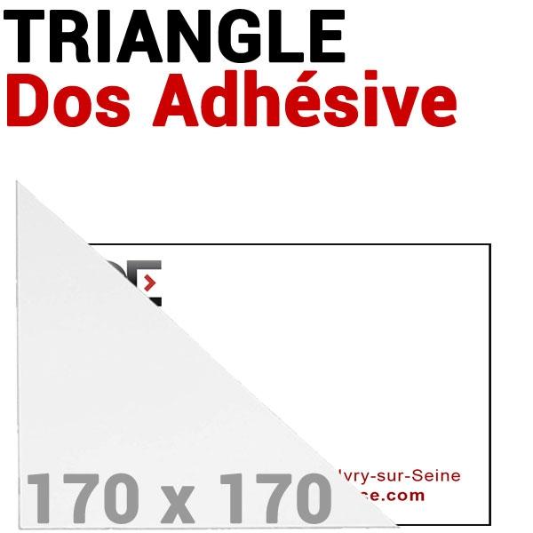 Pochette 170 x 170mm Dos Adhésive coin Triangulaire #  Réf : PPA170 Boite de 100 pochettes