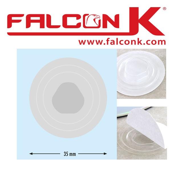 @Support CD-Clips plastique,30mm Dos Adhésive#Ref : SCDAD Par carton de 100