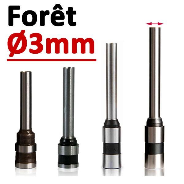 Foret Ø 3mm# Longueur 30mm#Par 1