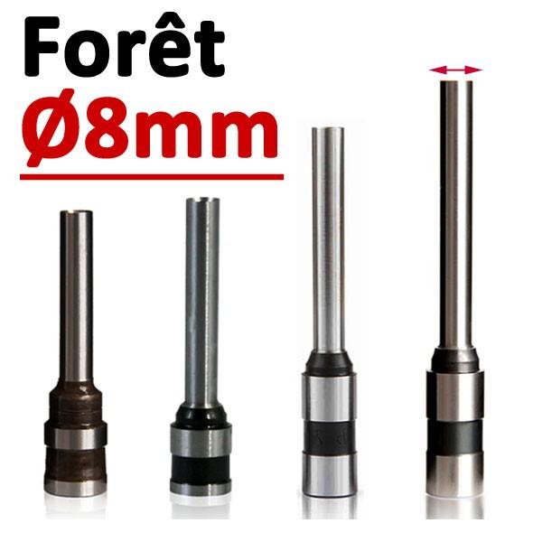 Foret Ø 8mm l# Longueur 50mm#Par 1