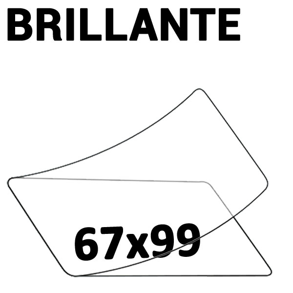 67mm x 99mm  Badge 2 Faces Brillantes #Boite de 100 pièces