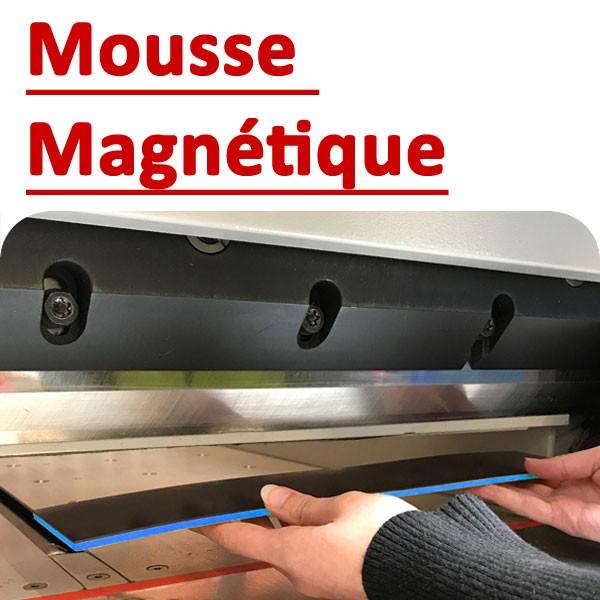 @Mousse magnétique pour protection# des papier sensibles#Dimention 78 x 400 jeu de 2 # A mettres sous la presse