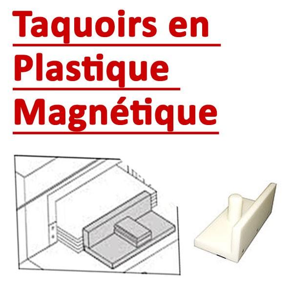 Taquoirs en plastique magnétique #Pour une bonne adhérence#Dimention 7.5m (hauteur) x 25cm(largeur)