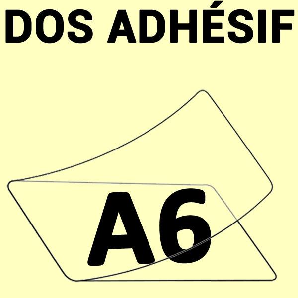 A6 (111mm x 154mm) 1 Face Brillante Dos Adhésif#Boite de 100 pièces