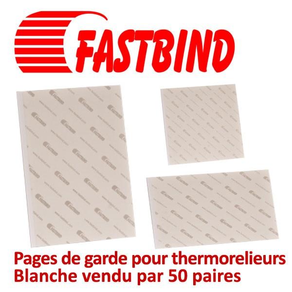 @Pages de garde pour thermorelieurs blanche #Par 50 paires (100 pcs)/boite