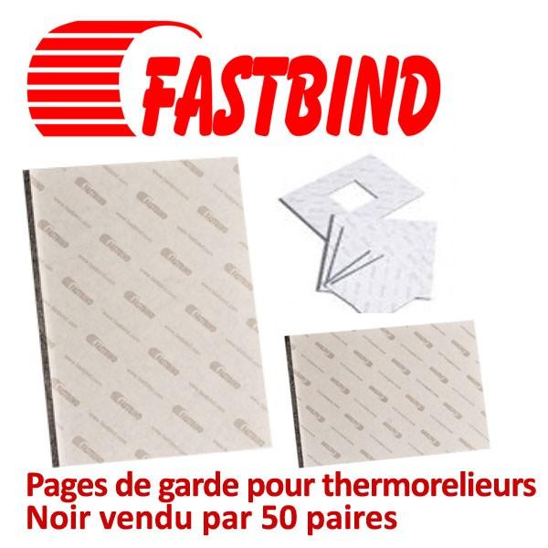 Pages de garde pour thermorelieurs Noir #Par 50 paires (100 pcs)/boite