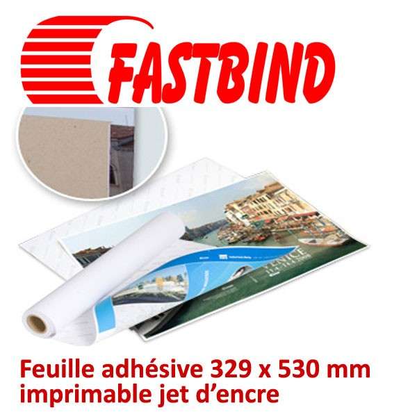 @Feuille adhésive 329 x 530 mm# imprimable jet d'encre #Par 50 feuiles