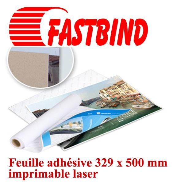 @Feuille adhésive 329 x 500 mm#Imprimable laser #Par 50 feuiles