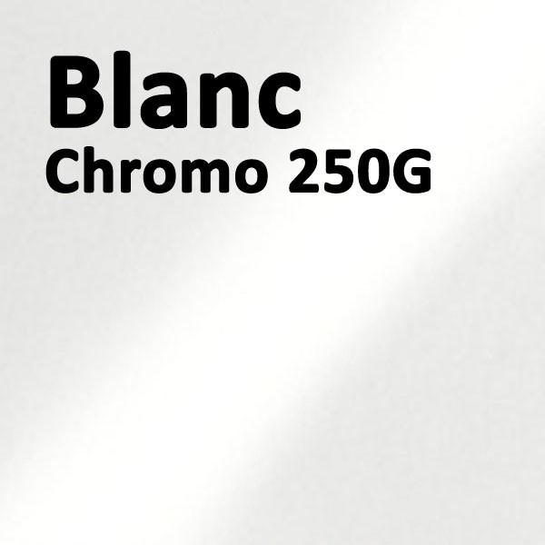 Couverture Carton Chromo Blanc#Le paquet de 100 feuilles