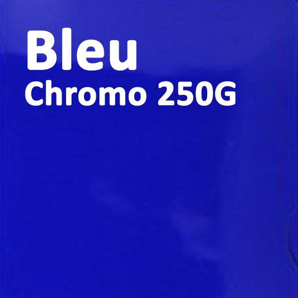 Couverture Carton Chromo Bleu 250g#Le paquet de 100 feuilles