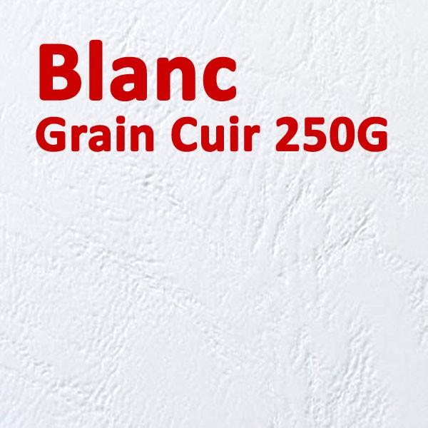 Couverture Carton Grain Cuir Blanc 250g#Le paquet de 100 feuilles