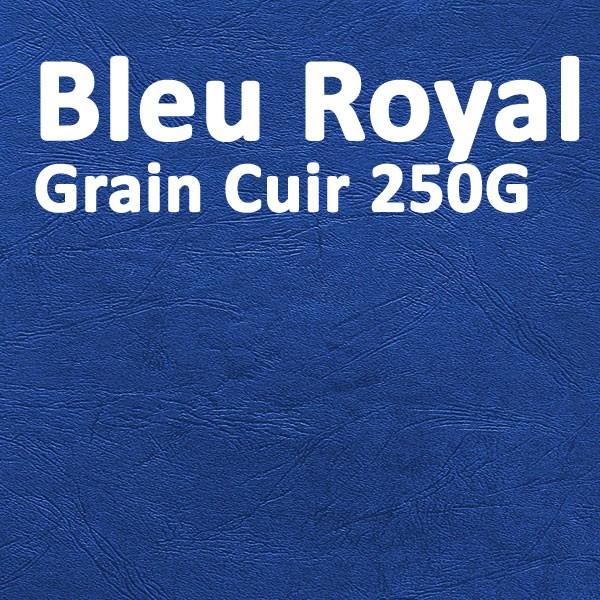 Couverture Carton Grain Cuir Bleu Royal 250g#Le paquet de 100 feuilles