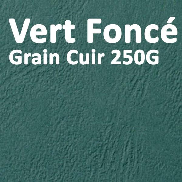Couverture Carton Grain Cuir Vert Chasse 250g#Le paquet de 100 feuilles