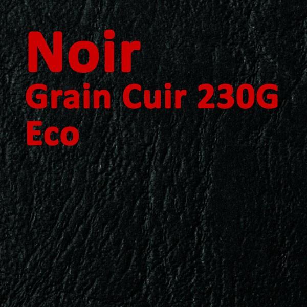@Couverture Carton Eco Grain Cuir Noir 230g#Le paquet de 100 feuilles