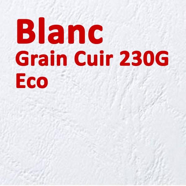 Couverture Carton Eco Grain Cuir Blanc 230g#Le paquet de 100 feuilles