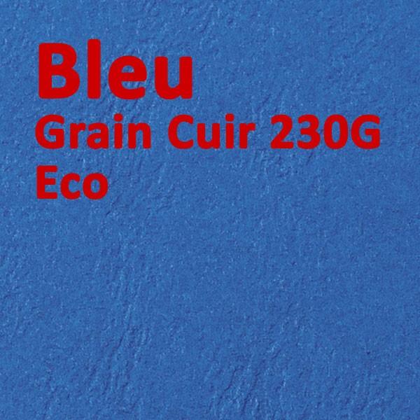 Couverture Carton Eco Grain Cuir Bleu 230g#Le paquet de 100 feuilles