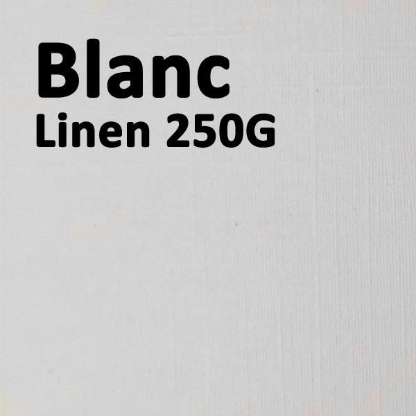 @Couverture Carton Linen Blanc 250g A4#Le paquet de 100 feuilles