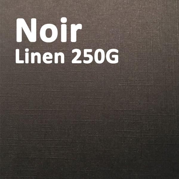 Couverture Carton Linen Noir 250g A4#Le paquet de 100 feuilles