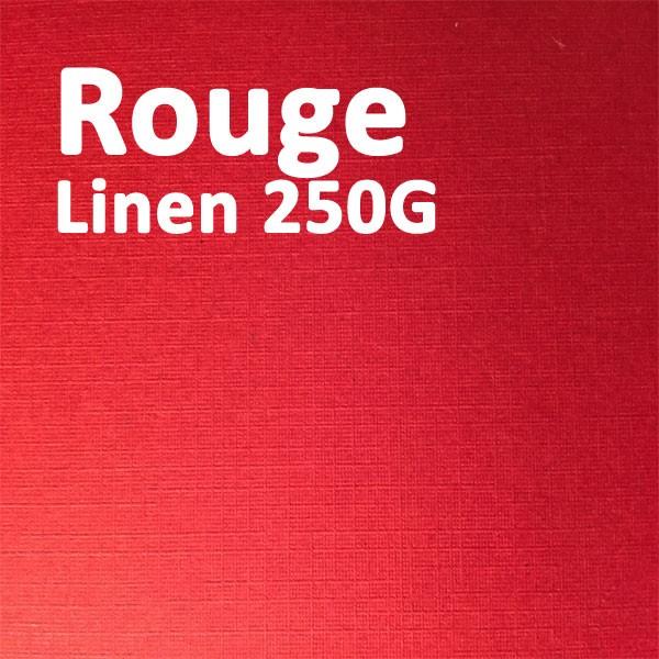 Couverture Carton Linen Rouge 250g A4#Le paquet de 100 feuilles