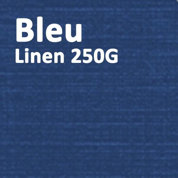 Couverture Carton Linen Bleu 250g A4#Le paquet de 100 feuilles