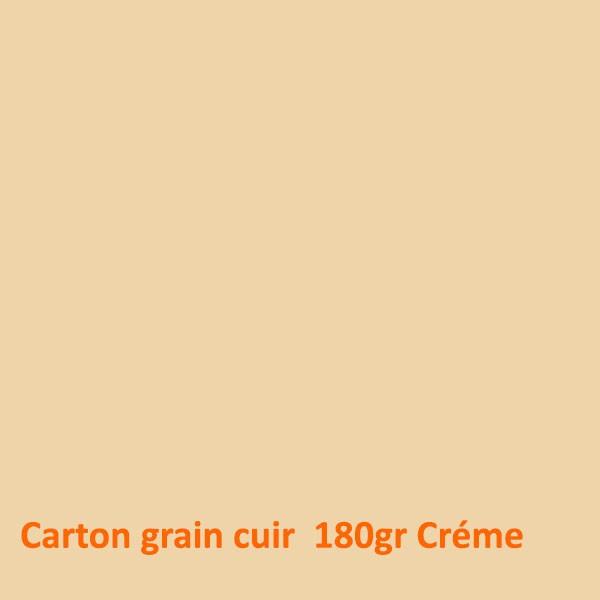 Dos Grain cuir Créme 180gr #+Face Transparente Boite de 100 Pcs