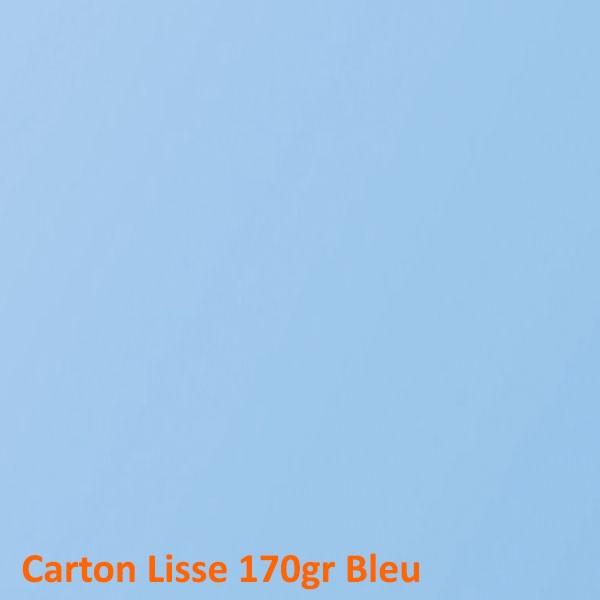 Dos Carton Bleu 170gr #+Face Transparente Boite de 100 Pcs