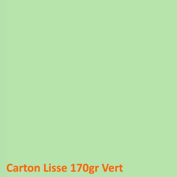 Dos Carton Vert 170gr #+Face Transparente Boite de 100 Pcs