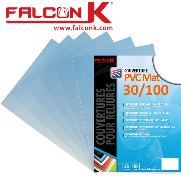 Couverture PVC 30/100 Mat #Le paquet de 100 feuilles