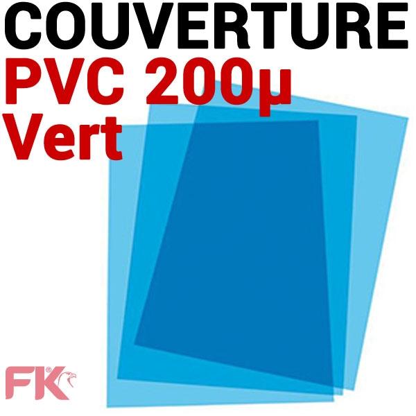 @Couverture PVC 20/100 transp. Bleu #Le paquet de 100 feuilles