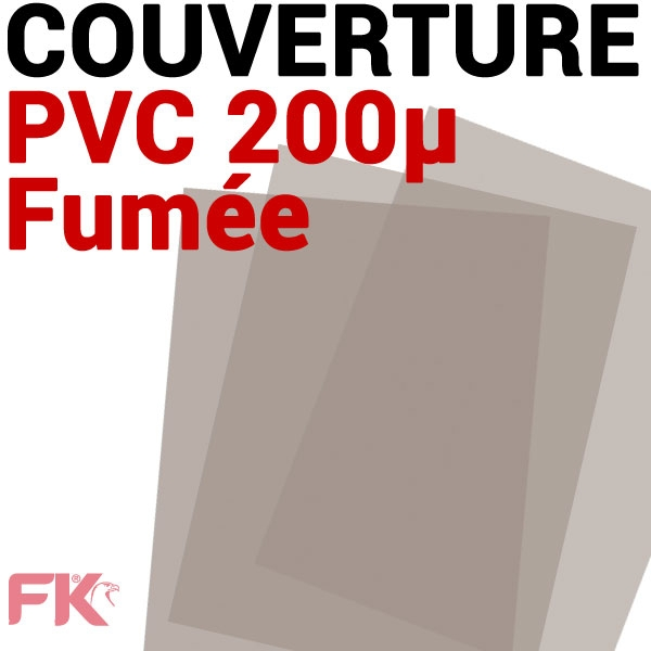 Couverture PVC 20/100 transp. Fumé #Le paquet de 100 feuilles