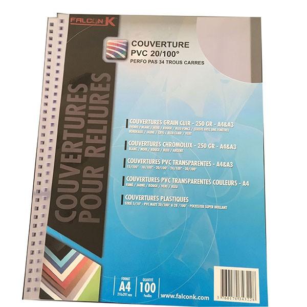 Couverture PVC 20/100 perforation 34 Trous en 3:1 carré #Le paquet de 100 feuilles