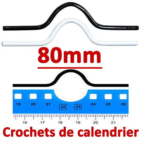 Crochets de calendrier 80mm #Boite de 1000 crochets