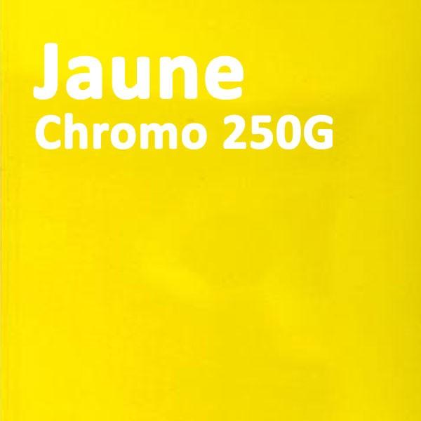 Couverture Carton Chromo Jaune 250g#Le paquete de 100 feuilles