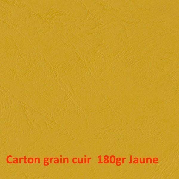 Dos Grain cuir Jaune 180gr #+Face Transparente Boite de 100 Pcs