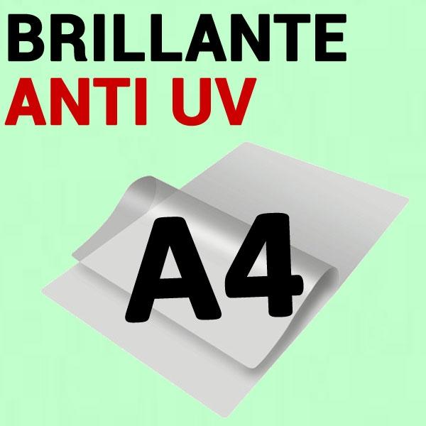 A4 (216mm x 303mm) 2 Faces Brillantes Anti UV#Boite de 100 pièces