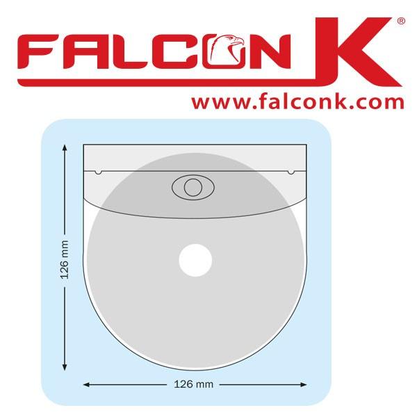 Pochette Arondis CD + petit  Rabat 126 X 126mm Adhésive#Ref : PPACDR  Boite de 100 Pochettes