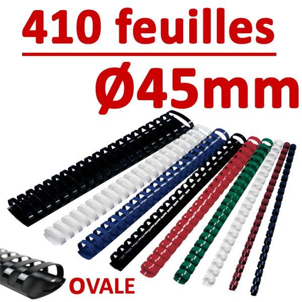 Ø 45mm de 341 à 410 feuilles, ovale#boite de 50pcs