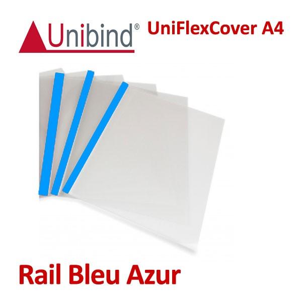 Transparent face&dos Tranche Bleu Azur
