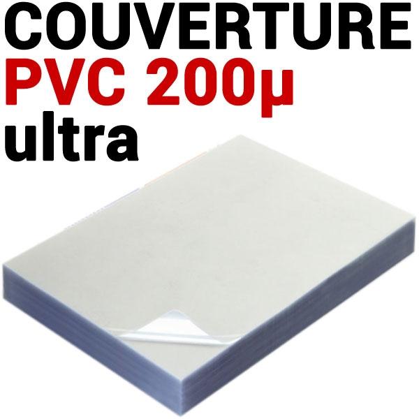 Couverture PVC 20/100 ULTRA TRANSPARENT #Le paquet de 100 feuilles