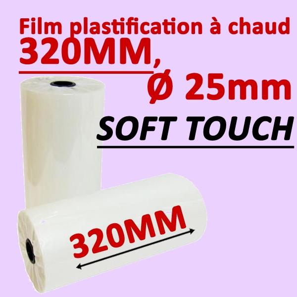 @Rouleaux en 320mm, Ø 2.5cm SOFT TOUCH Numérique#Prix pour 2 rouleaux