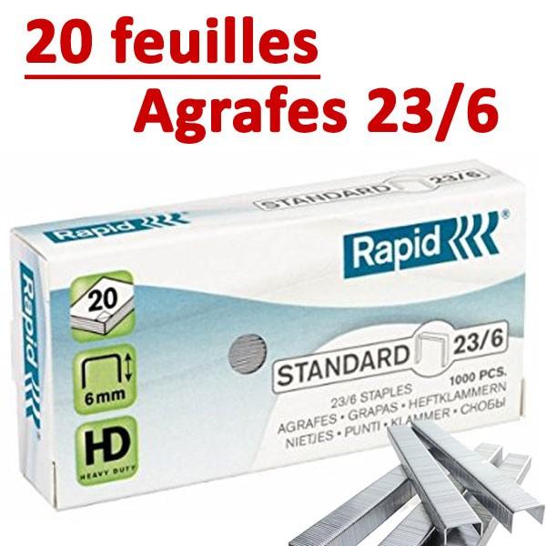 Agrafes 23/6 (HD70,HD110,HD170,HD210)#Capacité 20 feuilles