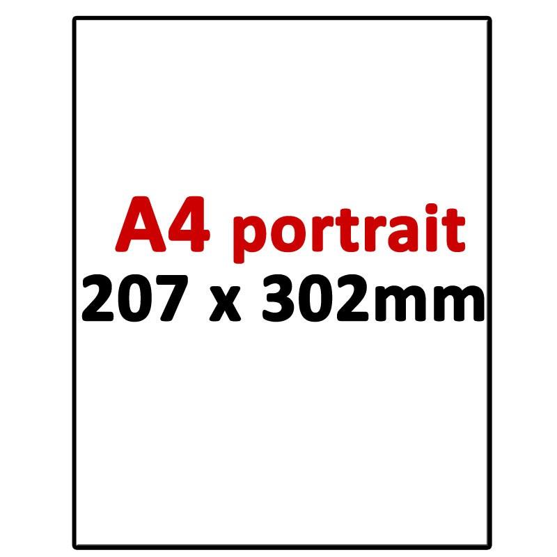 A4 Portrait 207 x 302mm