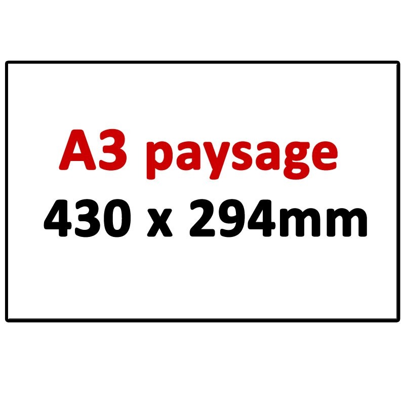A3 paysage 430 X 294 mm