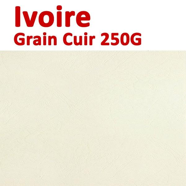 Couverture Carton Eco Grain Cuir Ivoire 230g#Le paquet de 100 feuilles