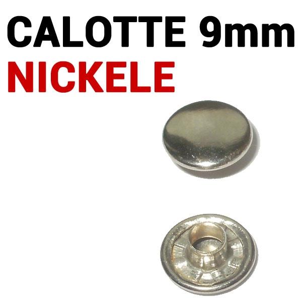 Calottes Nickelé pour toutes tailles de rivets # Boite de 1000pcs