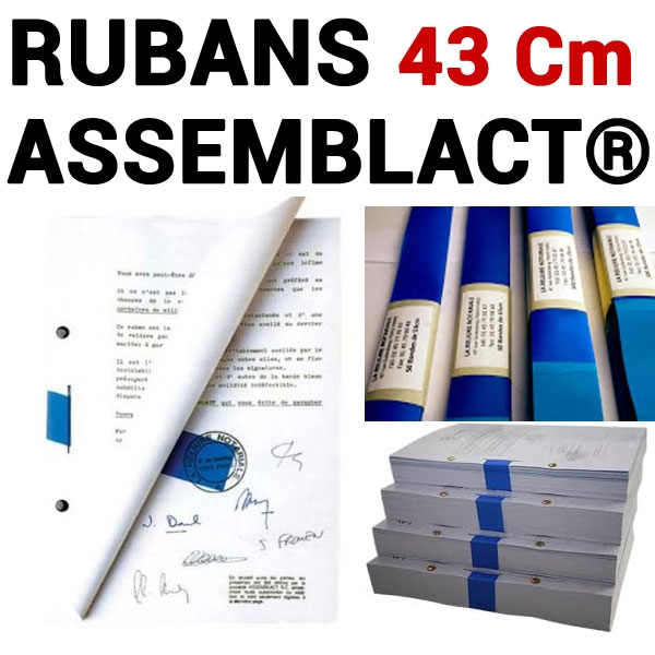 Rubans ASSEMBLACT® 43 cm # Pour relier de  600 à 1100  feuilles#  Vendu par 10 unités