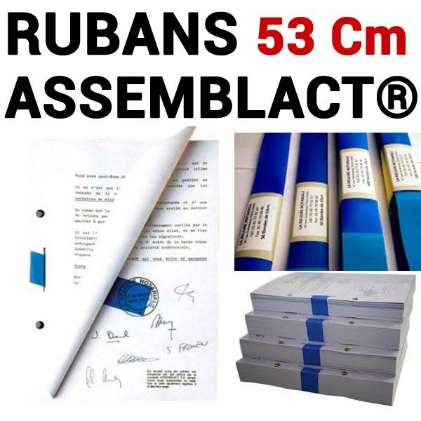 Rubans ASSEMBLACT® 53 cm # Pour relier de 1100 à 1600  feuilles#  Vendu par 10 unités
